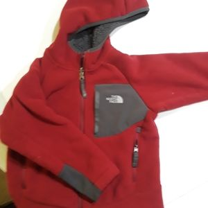 North face fleece youth jacket  size 5